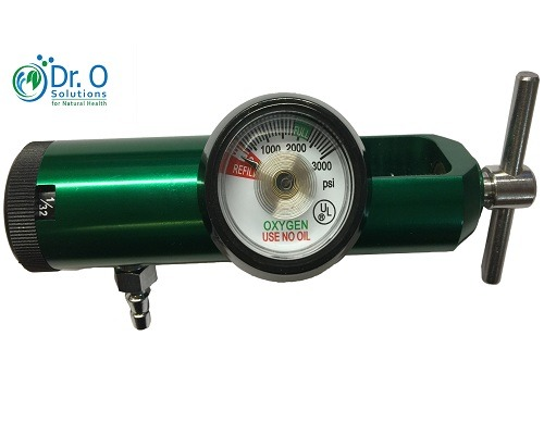 Oxygen Regulator 0 - 1/32 to 4 Lpm Low Flow CGA 870 for Medical Grade Tank